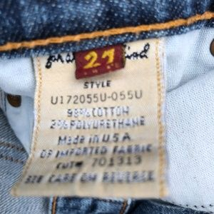 7 For All Mankind Jeans - 7 for all Mankind MNE Crop Signature Size 27